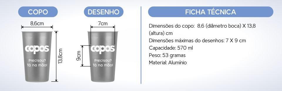 copo aluminio 570 ml personalizado especificacoes