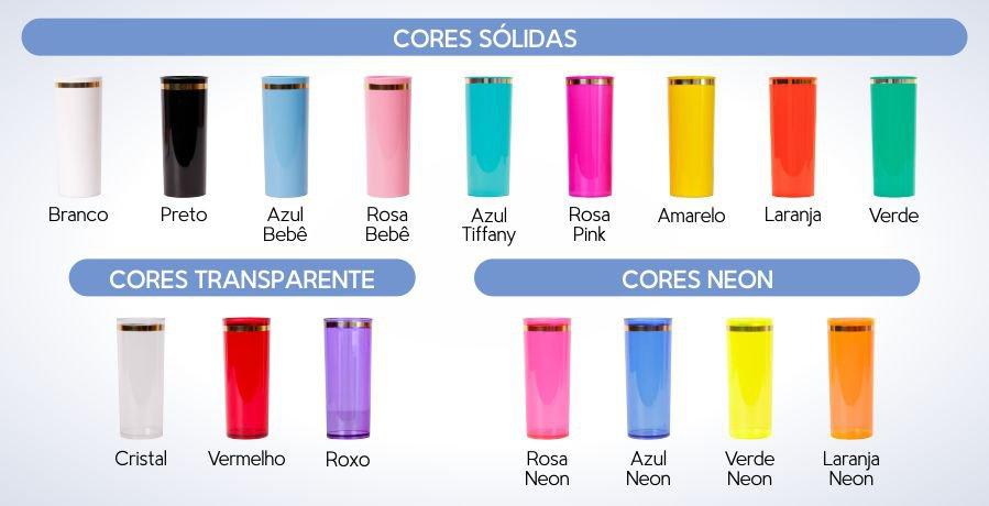 copo personalizado long drink 350 acrilico borda cores