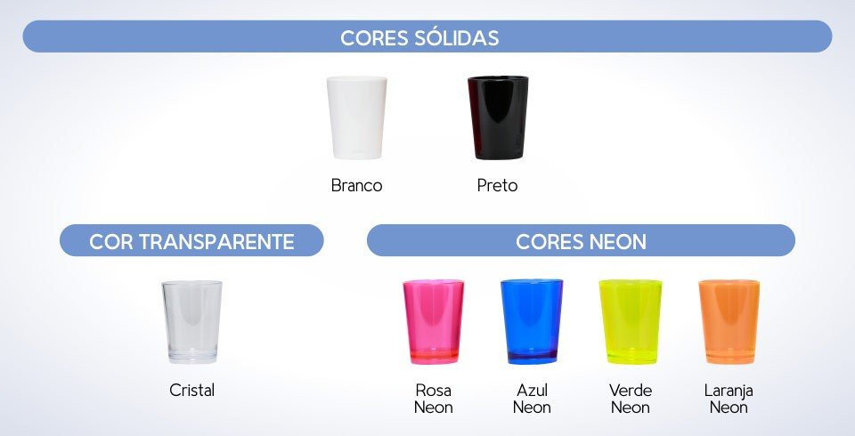 copo shot personalizado cores