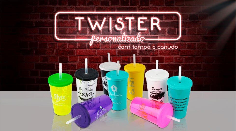 banner neon copo twister tampa e canudo