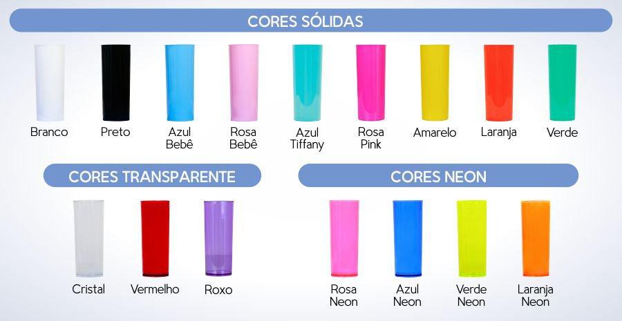 copo personalizado long drink 350 acrilico CORES