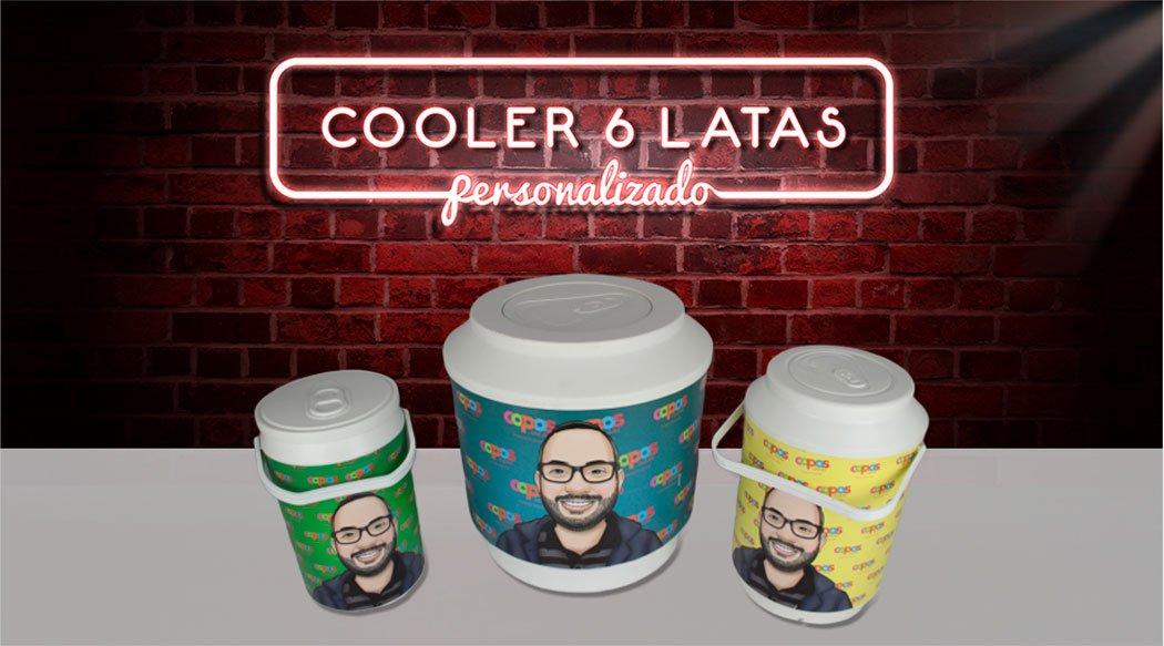 banner cooler 6 latas elo7