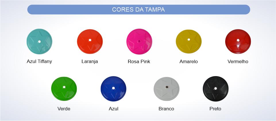 copo tornado canudo cores tampas