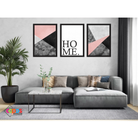 mokup quadro home decor preto