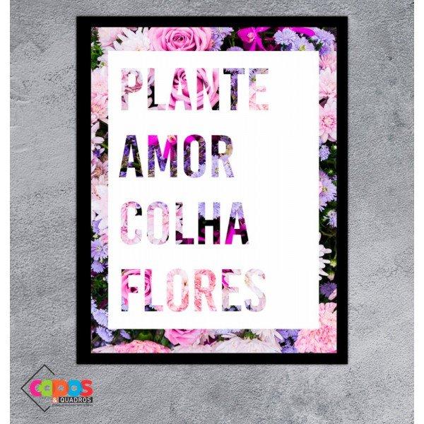 1569 quadro plante amor preto