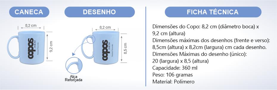 especifico caneca polimero nova