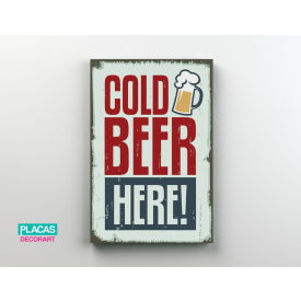 placa decorativa cold