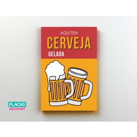 placa decorativa cerveja gelada
