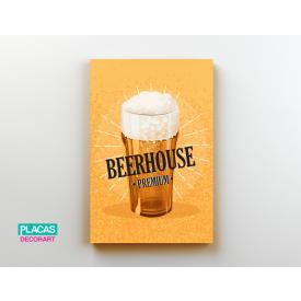placa decorativa beerhouse loja copos