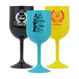 formatura direito taca de vinho 01 loja copos