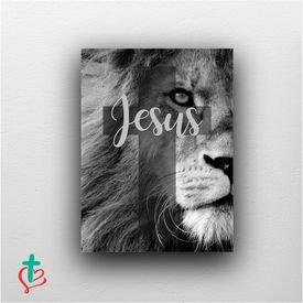 placa decorativa jesus leao decora cristao