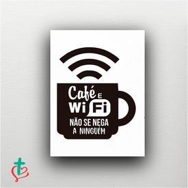 placa decorativa cafe wifi decora cristao