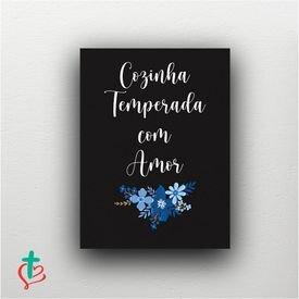 placa decorativa cozinha temperada decora cristao