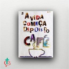 placa decorativa vida cafe decora cristao