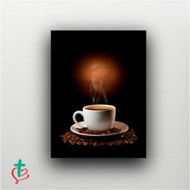 placa decorativa cafe xicara decora cristao