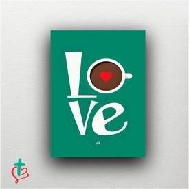 placa decorativa love cafe decora cristao