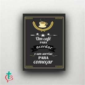placa decorativa cafe acordar