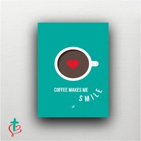 placa decorativa coffee smile decora cristao