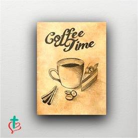 placa decorativa coffe time decora cristao