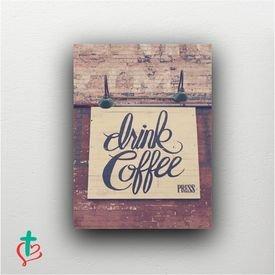 placa decorativa drink coffee decora cristao